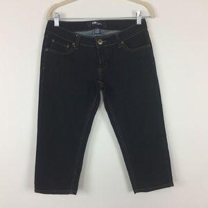 ✅ 4/$20 Styte Shorts Jeans Sz 7 Bermuda Dark Wash